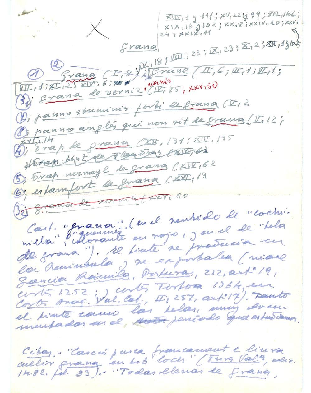 Vista ampliada de la ficha escaneada con el texto para la entrada grana ( 6 de 103 )