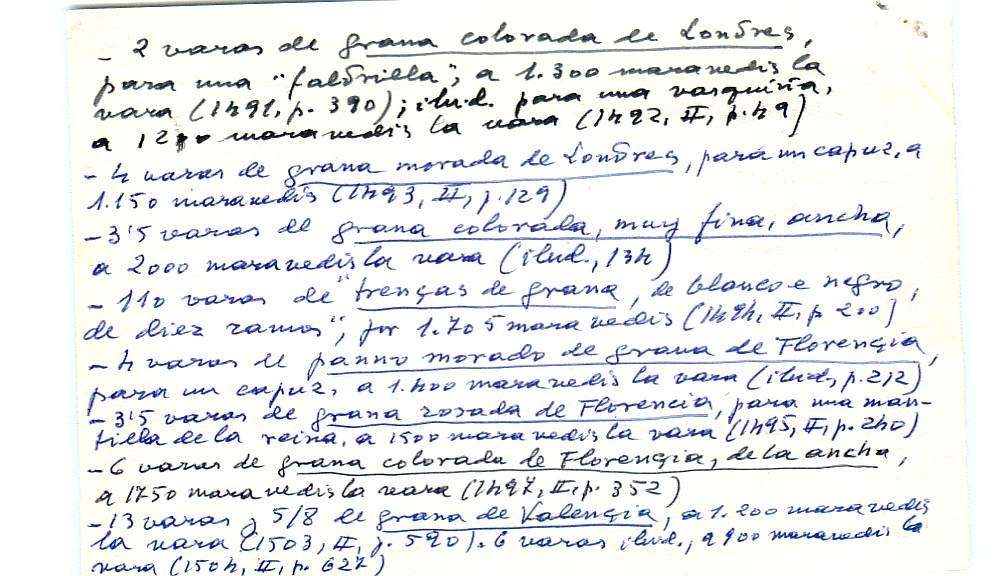Vista ampliada de la ficha escaneada con el texto para la entrada grana ( 17 de 103 )