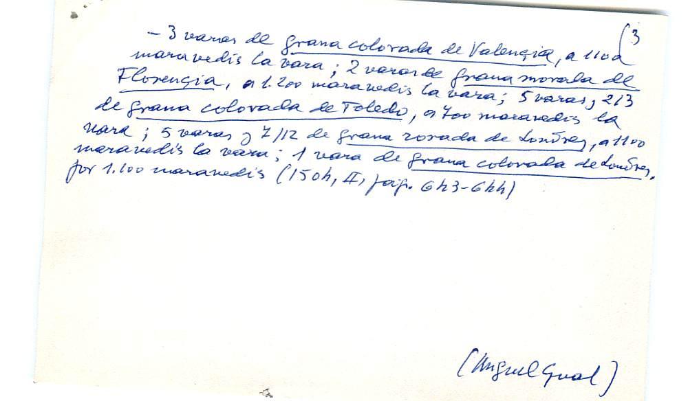 Vista ampliada de la ficha escaneada con el texto para la entrada grana ( 18 de 103 )