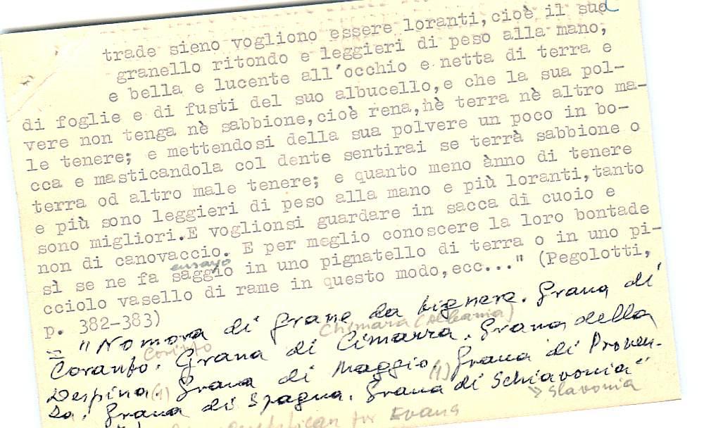 Vista ampliada de la ficha escaneada con el texto para la entrada grana ( 22 de 103 )