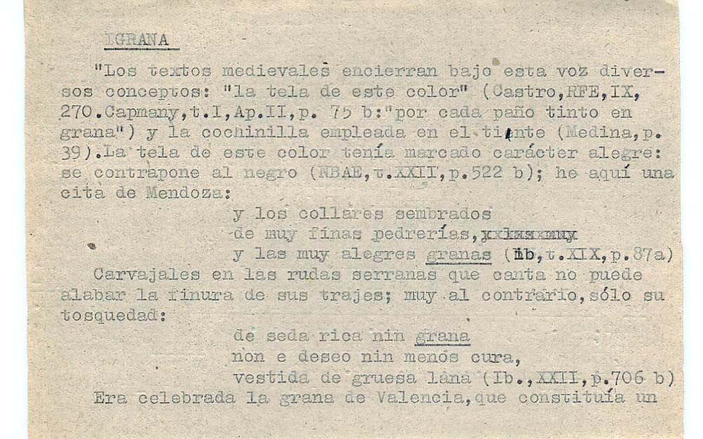Vista ampliada de la ficha escaneada con el texto para la entrada grana ( 25 de 103 )