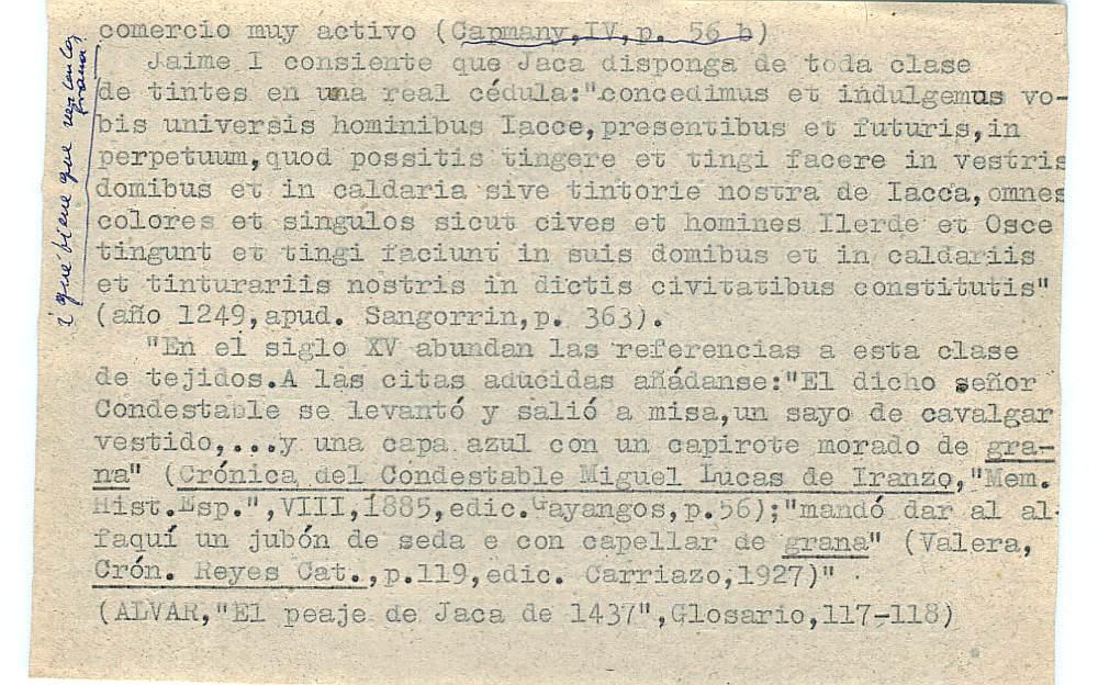 Vista ampliada de la ficha escaneada con el texto para la entrada grana ( 26 de 103 )