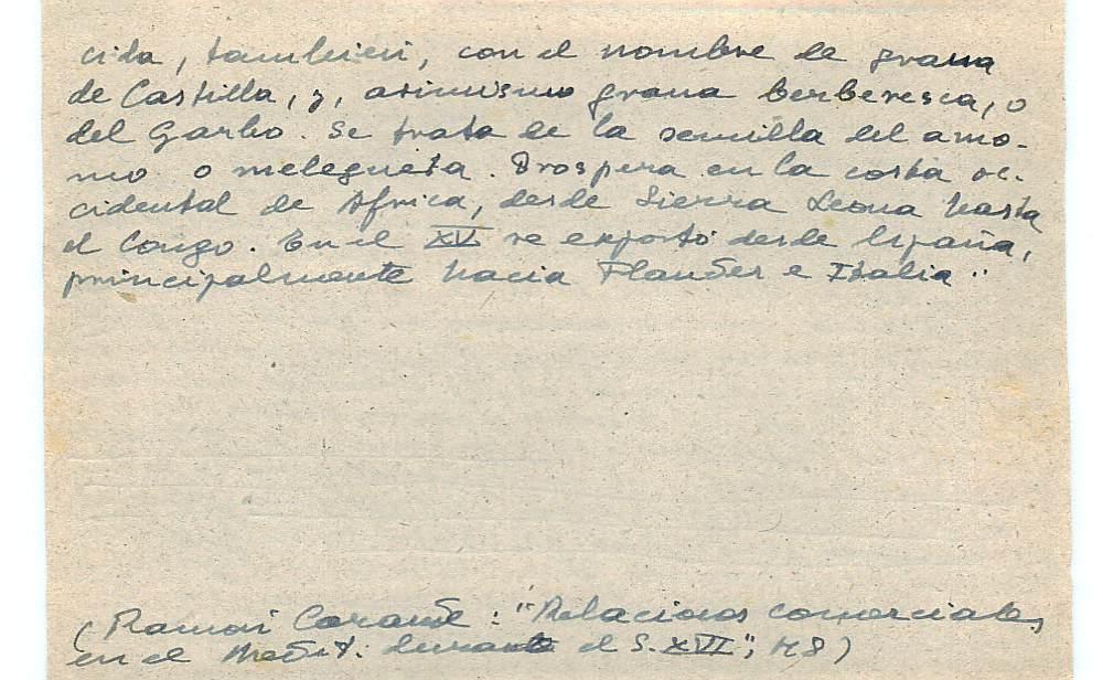 Vista ampliada de la ficha escaneada con el texto para la entrada grana ( 30 de 103 )