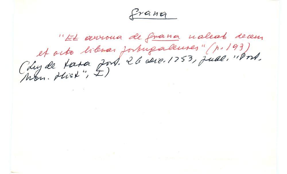 Vista ampliada de la ficha escaneada con el texto para la entrada grana ( 33 de 103 )