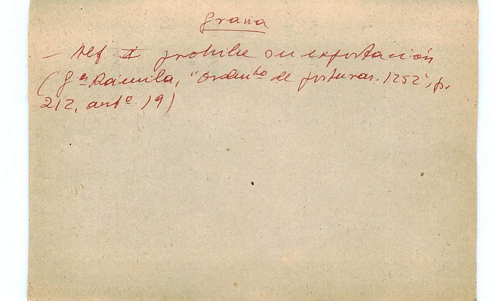 Vista ampliada de la ficha escaneada con el texto para la entrada grana ( 35 de 103 )