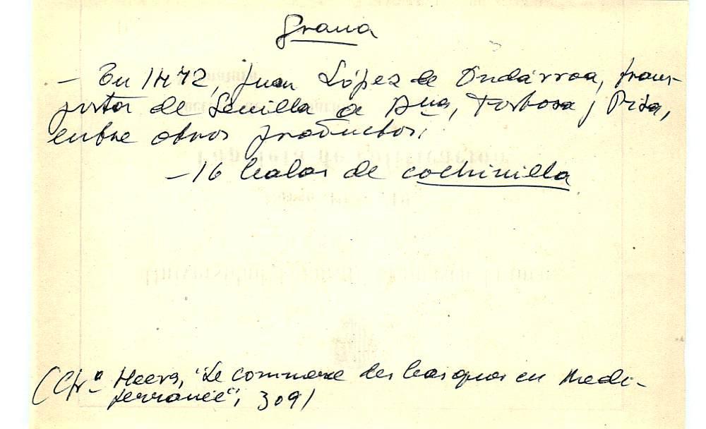 Vista ampliada de la ficha escaneada con el texto para la entrada grana ( 39 de 103 )
