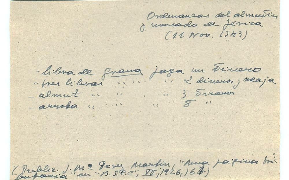 Vista ampliada de la ficha escaneada con el texto para la entrada grana ( 42 de 103 )