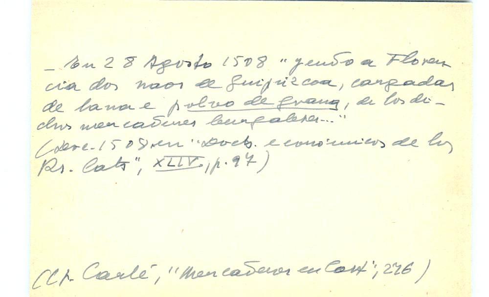 Vista ampliada de la ficha escaneada con el texto para la entrada grana ( 46 de 103 )