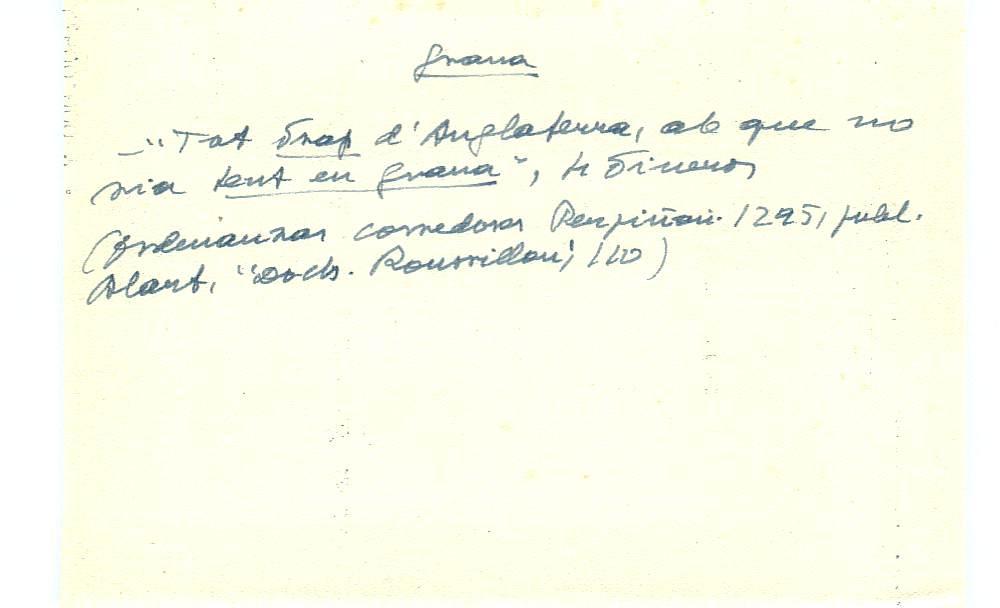 Vista ampliada de la ficha escaneada con el texto para la entrada grana ( 52 de 103 )