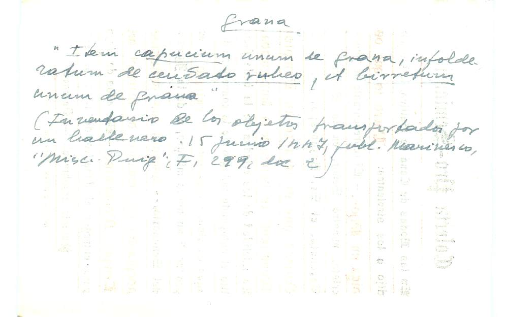 Vista ampliada de la ficha escaneada con el texto para la entrada grana ( 53 de 103 )