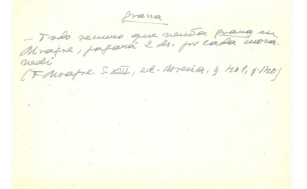 Vista ampliada de la ficha escaneada con el texto para la entrada grana ( 55 de 103 )