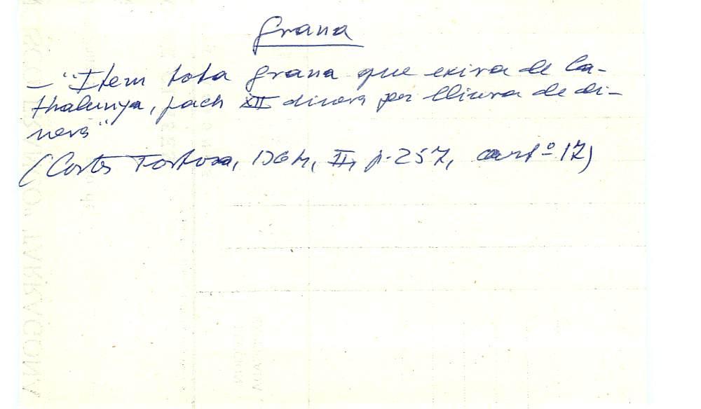 Vista ampliada de la ficha escaneada con el texto para la entrada grana ( 59 de 103 )