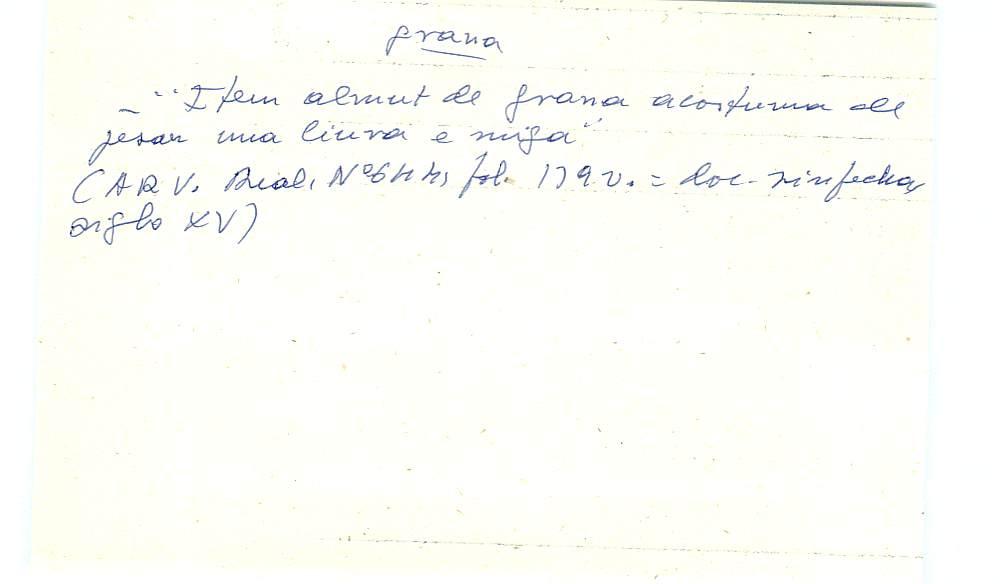 Vista ampliada de la ficha escaneada con el texto para la entrada grana ( 61 de 103 )
