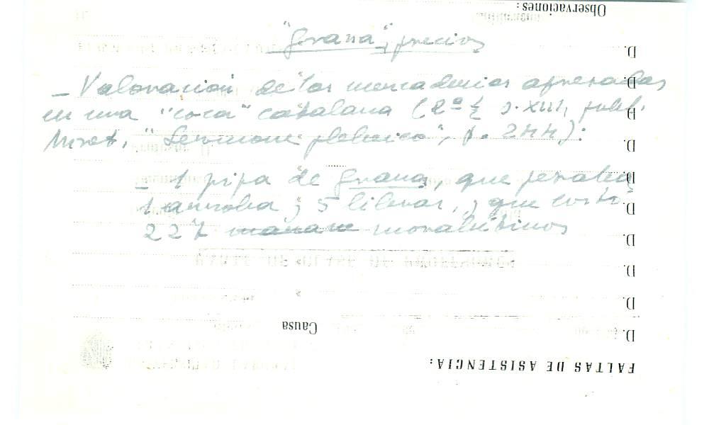 Vista ampliada de la ficha escaneada con el texto para la entrada grana ( 63 de 103 )