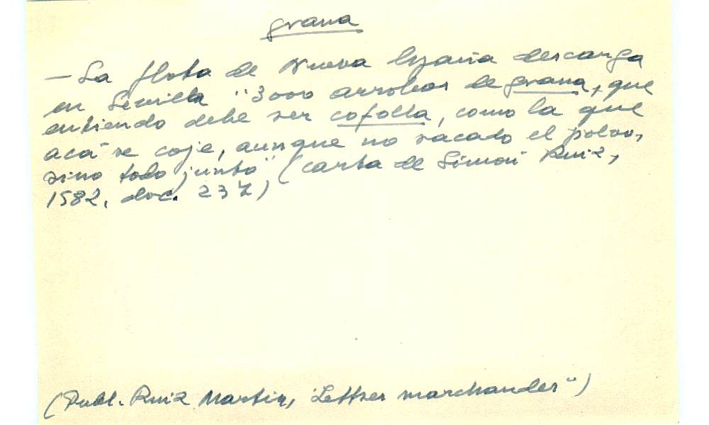 Vista ampliada de la ficha escaneada con el texto para la entrada grana ( 66 de 103 )