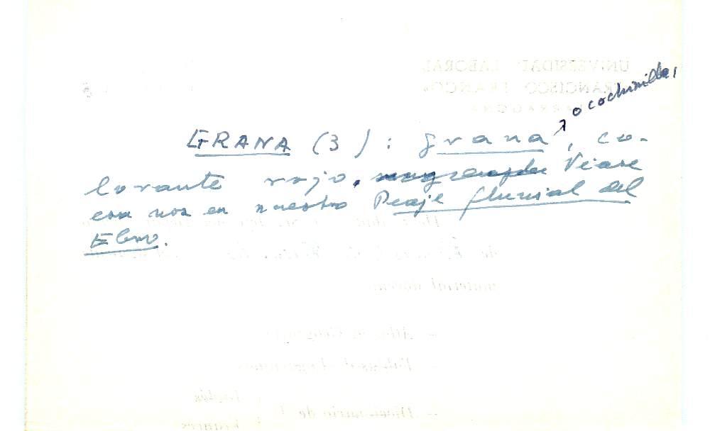 Vista ampliada de la ficha escaneada con el texto para la entrada grana ( 69 de 103 )