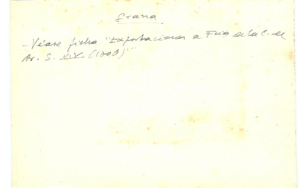 Vista ampliada de la ficha escaneada con el texto para la entrada grana ( 76 de 103 )