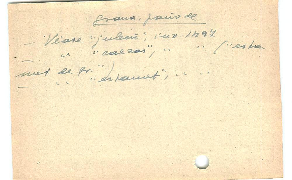 Vista ampliada de la ficha escaneada con el texto para la entrada grana ( 78 de 103 )