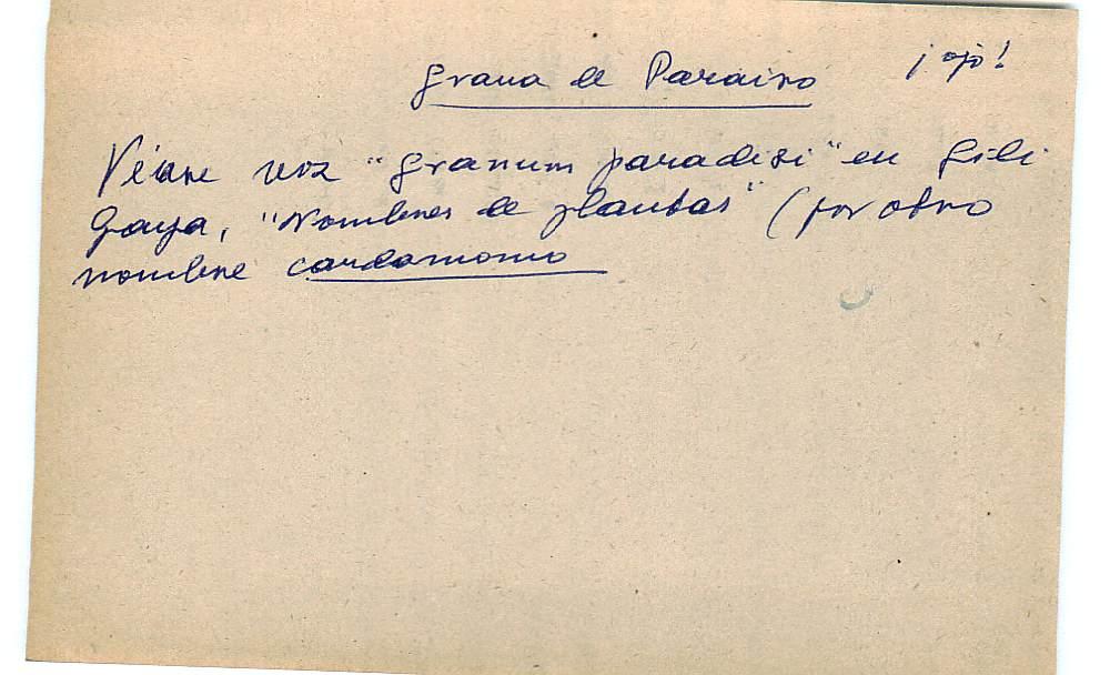 Vista ampliada de la ficha escaneada con el texto para la entrada grana ( 80 de 103 )