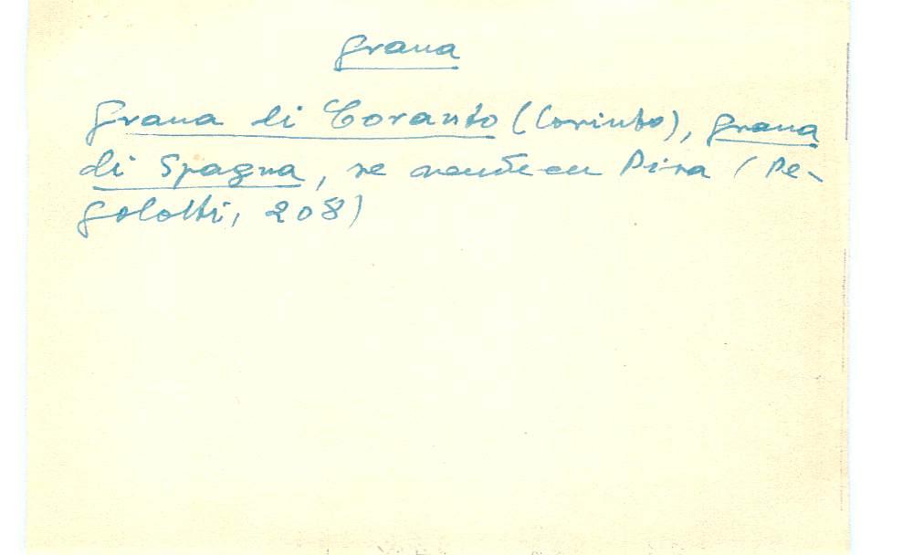 Vista ampliada de la ficha escaneada con el texto para la entrada grana ( 95 de 103 )