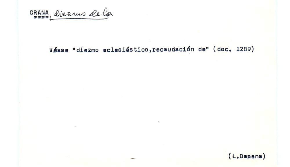 Vista ampliada de la ficha escaneada con el texto para la entrada grana ( 100 de 103 )