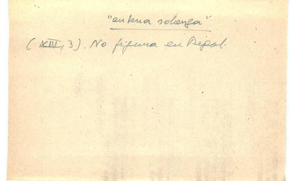 Vista ampliada de la ficha escaneada con el texto para la entrada entena ( 2 de 10 )