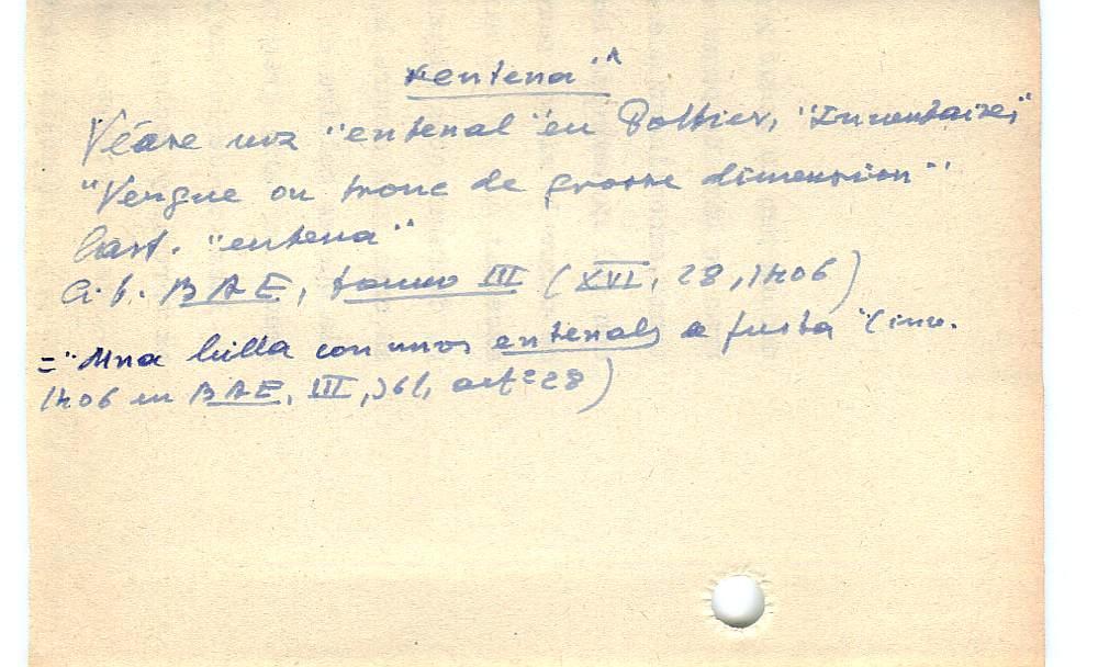 Vista ampliada de la ficha escaneada con el texto para la entrada entena ( 5 de 10 )