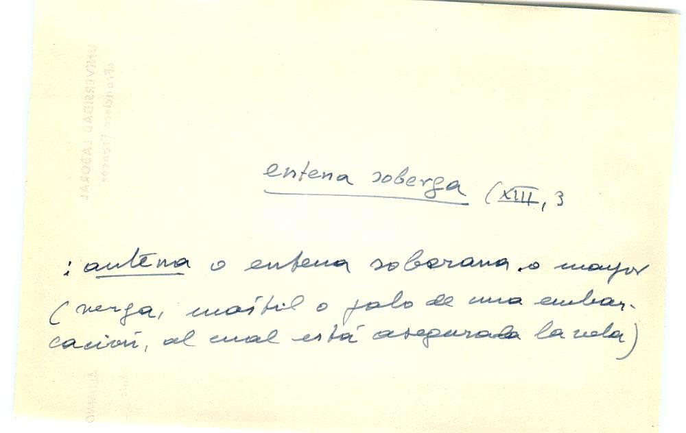 Vista ampliada de la ficha escaneada con el texto para la entrada entena ( 6 de 10 )
