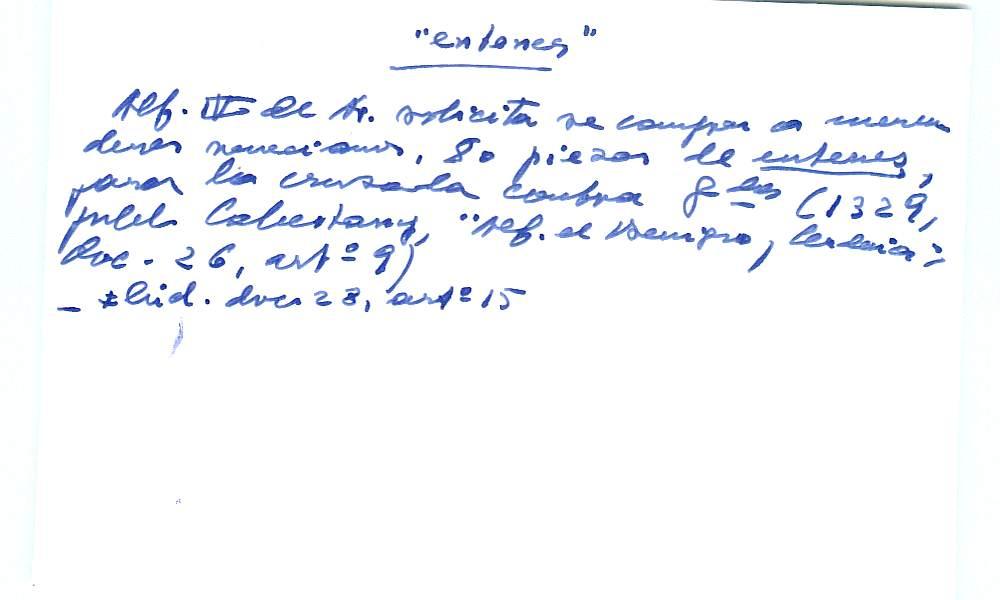 Vista ampliada de la ficha escaneada con el texto para la entrada entena ( 7 de 10 )