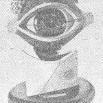 Modelo de globo ocular humano.