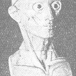 Modelo de cabeza humana.