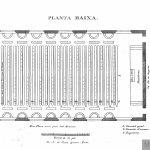 Plano de un aula para 304 niños. Lancaster (traducción al portugués).