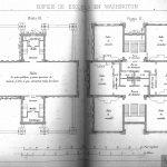 Planos de las plantas 2.ª y 3.ª de escuela de Washington. Jareño
