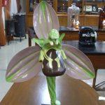Modelo de la flor de la orquídea.