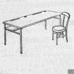 Mesa modelo 'Montesinos'[sic].