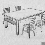 Mesa modelo 'Curvit'.