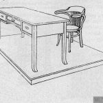 Mesa, sillón y tarima para la mesa del Profesor.