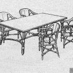 Mesa y silloncitos de junco para escuelas maternales.
