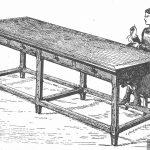 Mesa para costura y labores.