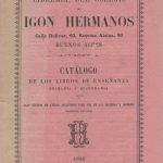 Colegio de Igón Hermanos 1883.