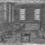 Representación de un aula de una Infant School (Wilderspin)