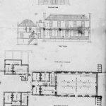 Planos de planta y alzado de una Infant School (Wilderspin)
