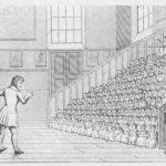 Clase en las gradas de una Infant School (Wilderspin)