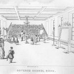 Ejercicio en las gradas de un aula de educación primaria (David Stow)
