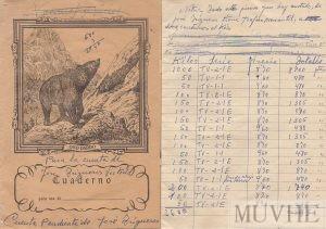 Figuras 1.1a y 1.1b. Cuaderno escolar utilizado como cuaderno de cuentas. Fondo CEME.