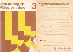 Figuras 1.3a y 1.3b. Editorial Santillana (1970a), Área de Lenguaje. Fichas de Trabajo 3. Madrid: Santillana. Fondo CEME.