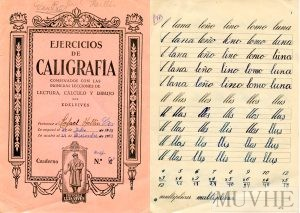Figuras 1.6a y 1.6b. Editorial Edelvives (1959) Ejercicios de Caligrafía. Zaragoza: Edelvives. Fondo CEME.