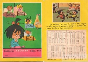 Figuras 1.7a y 1.7b. Cuaderno escolar núm. 143, Editorial FHER. 1965. Portada y contraportada. Fondo CEME.
