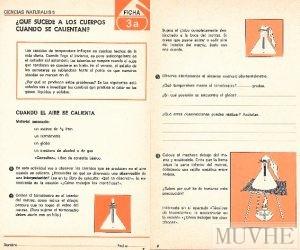 Figura 10.1a y 10.1b. Editorial Santillana (1970), Área de Experiencias (II. Ciencias Naturales) Fichas de Trabajo 5. Madrid: Santillana, pp.7 y 8.