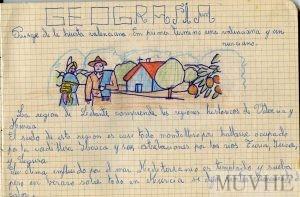 Figura 12.9. Lección de geografía regional. Cuaderno escolar de Rosita Botía García (1965, p. 29). Fondo CEME.
